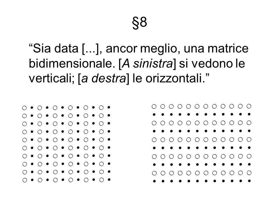 §8 Sia data [...], ancor meglio, una matrice bidimensionale.